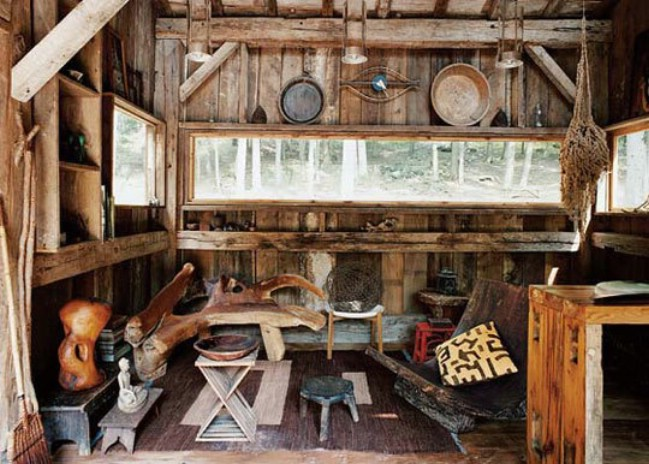 Off-Grid Tiny House Made from 100-Year Old Reclaimed Wood in New York
