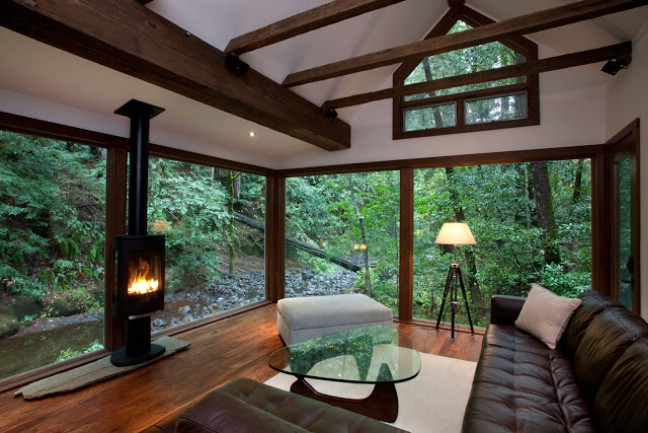 Rustic on the Outside, Modern on the Inside. Check out this 1920\'s ...