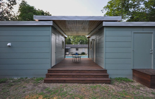 14x14 Modern Dwelling Double Tiny House With Breezeway By