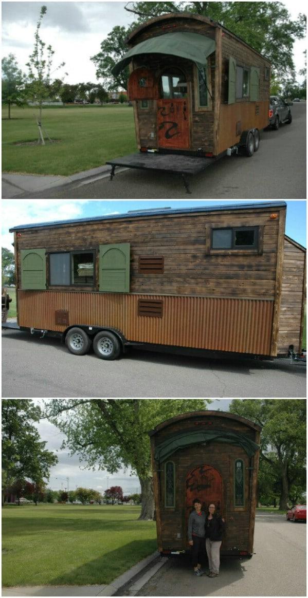 Tiny Caravan with Gorgeous Dutch Door