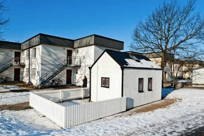 Swedish University Designs 94 Square Foot Tiny Houses for Students to Live in