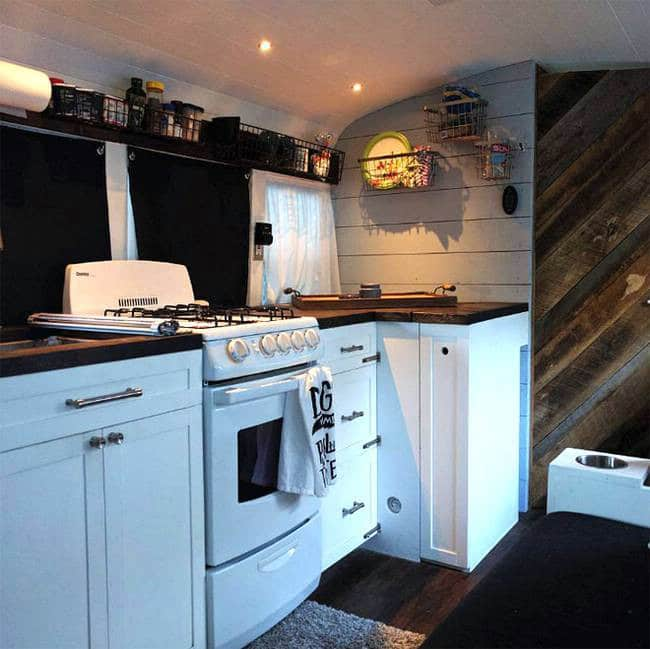 Techy Couple Convert School Bus into Modern Tiny House and Escape the 9-5