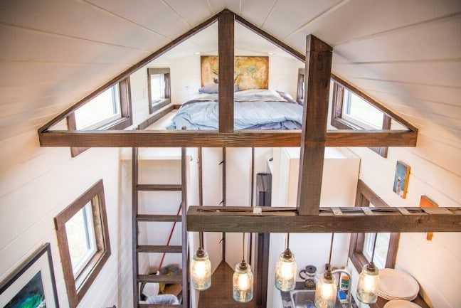 Tiny Home Designs: Beautifully Rustic Off-Grid 280 Square Foot Tiny House For