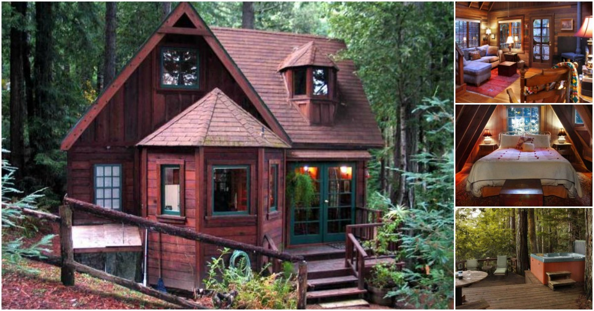 escape to northern california in the dreamcatcher tiny log house on 1 3 secluded acres tiny houses. Black Bedroom Furniture Sets. Home Design Ideas