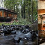 Rustic on the Outside, Modern on the Inside. Check out this 1920's Creekside Cabin!