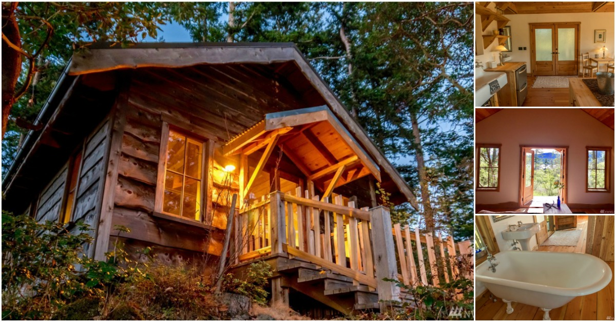 Handcrafted tiny house for sale on orcas island in for Homes for sale orcas island wa