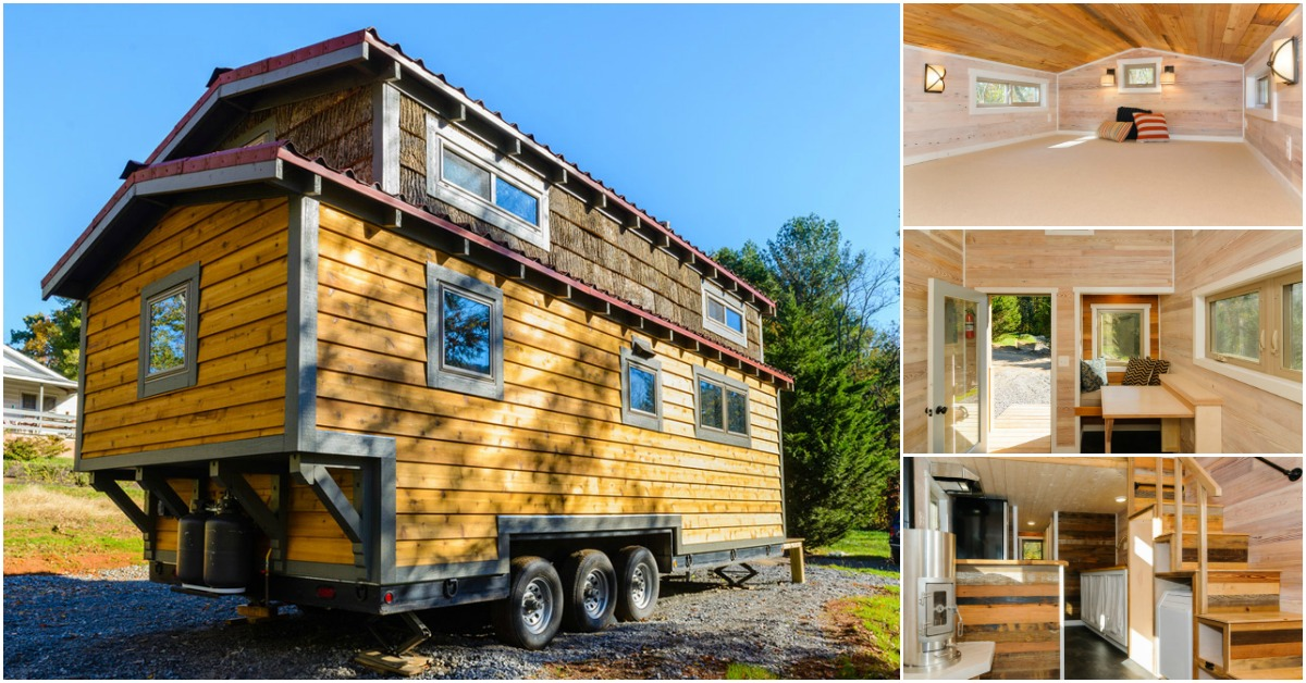 Mh by wishbone tiny homes demands attention inside and out for Houses inside and out