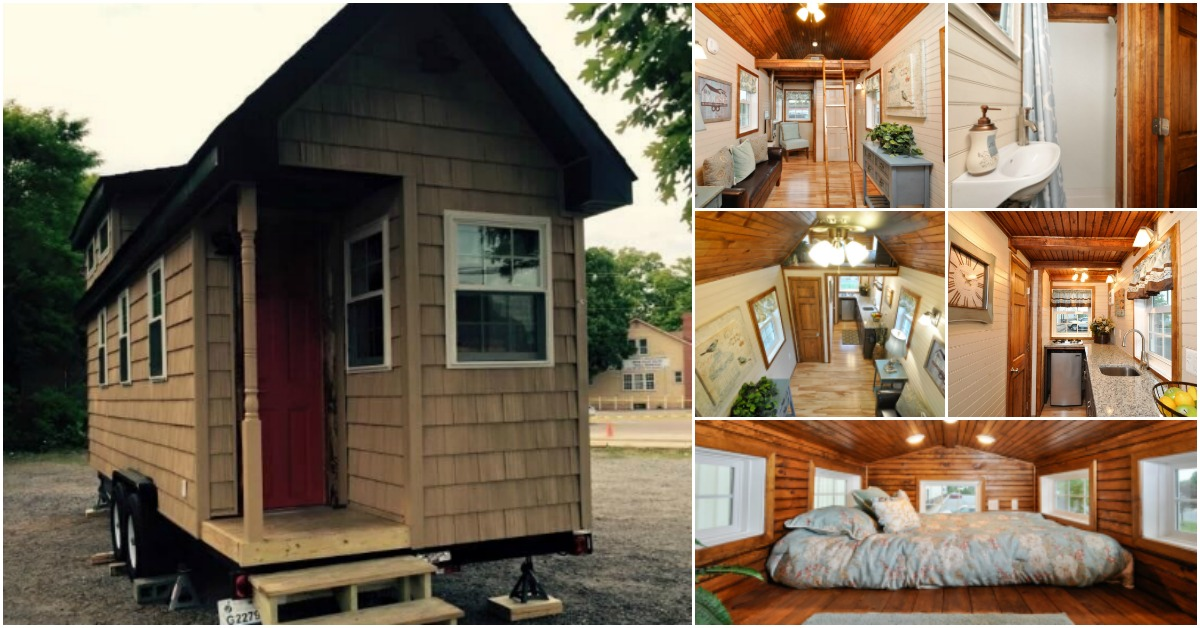 Off grid 272 square foot tiny house on wheels for 65 000 tiny houses - The off grid tiny house ...