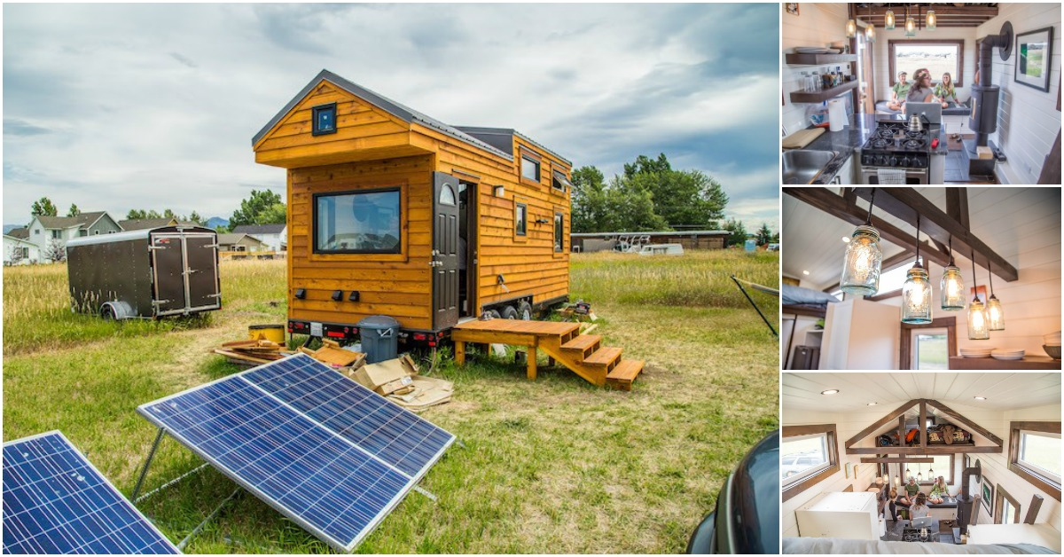 Beautifully rustic off grid 280 square foot tiny house for sale in montana tiny houses - The off grid tiny house ...