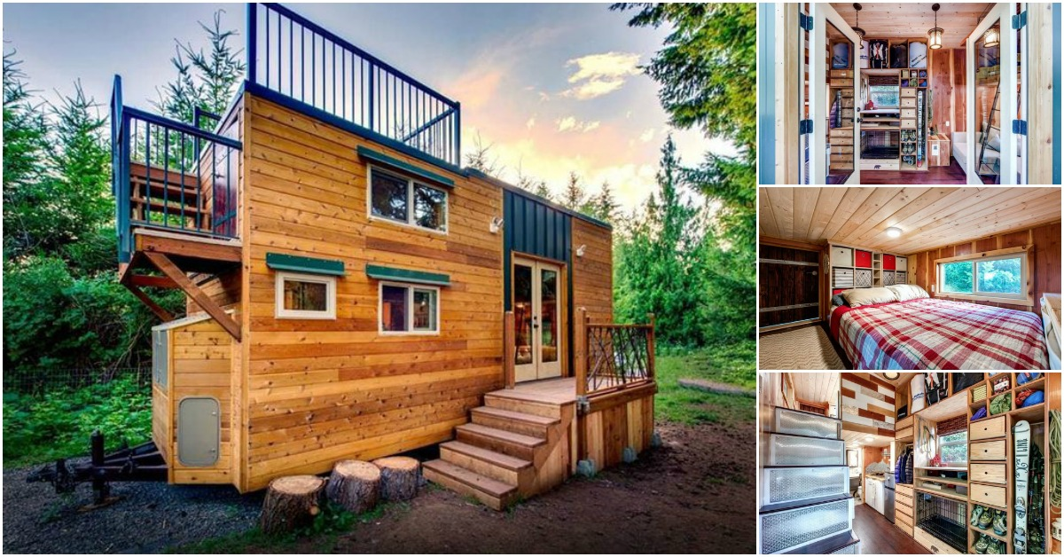 Engineering couple plus their three dogs live in 200 for 200 sq ft deck