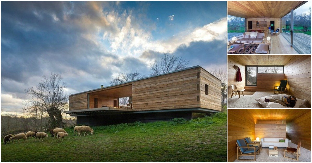 Let the outside come in while at this modern wooden tiny - Tiny house espana ...