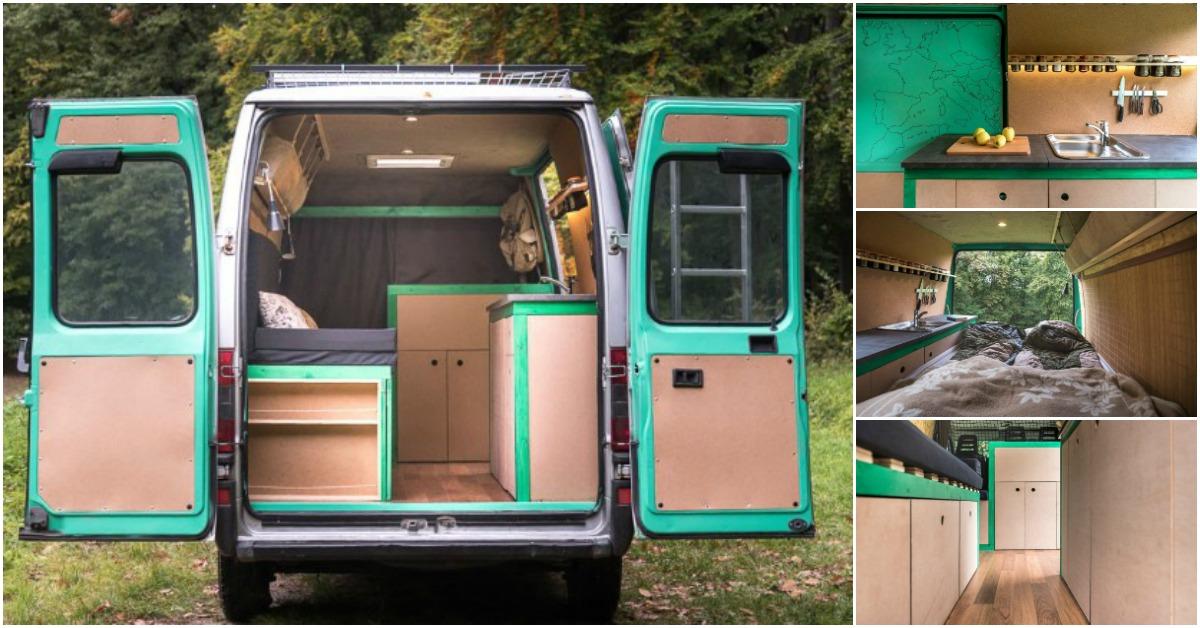 Traveling Photographer Converts Cargo Van Into Tiny House