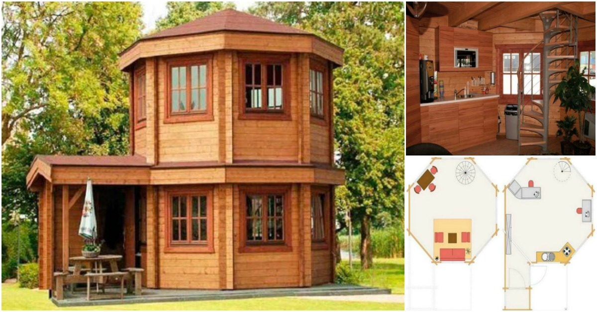 Adorable 272 square feet domed tiny house from barrett for 30000 square foot house plans