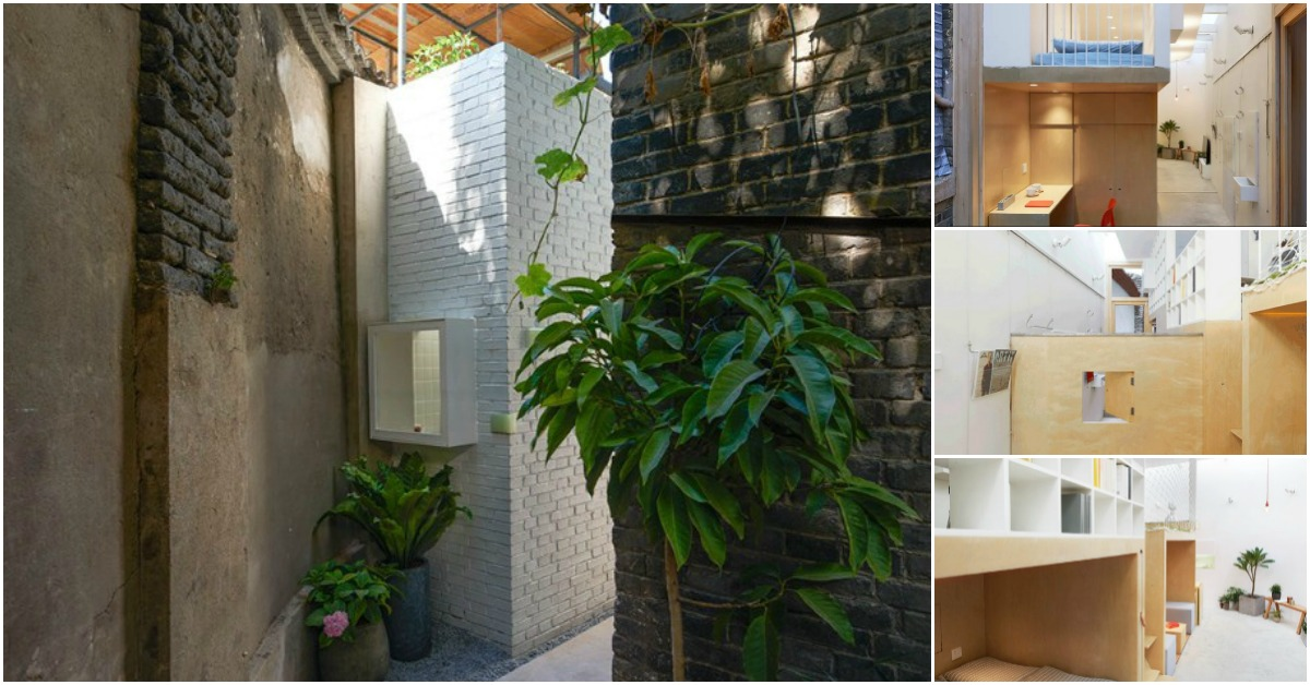 460 square foot tiny house squeezes into beijing alleyway for Tiny house family of 6