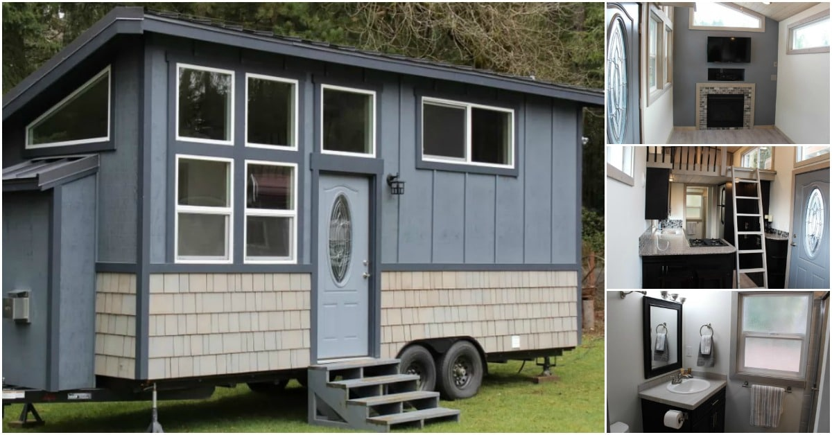 Tiny houses of washington build regal 303sf king s loft for Small house builders washington state