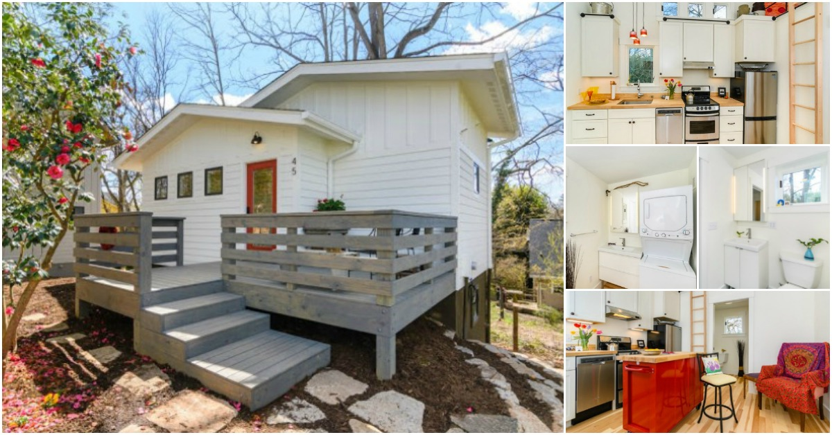 Tiny Home Designs: Wishbone Company Builds 768 Square Foot Tiny House Behind