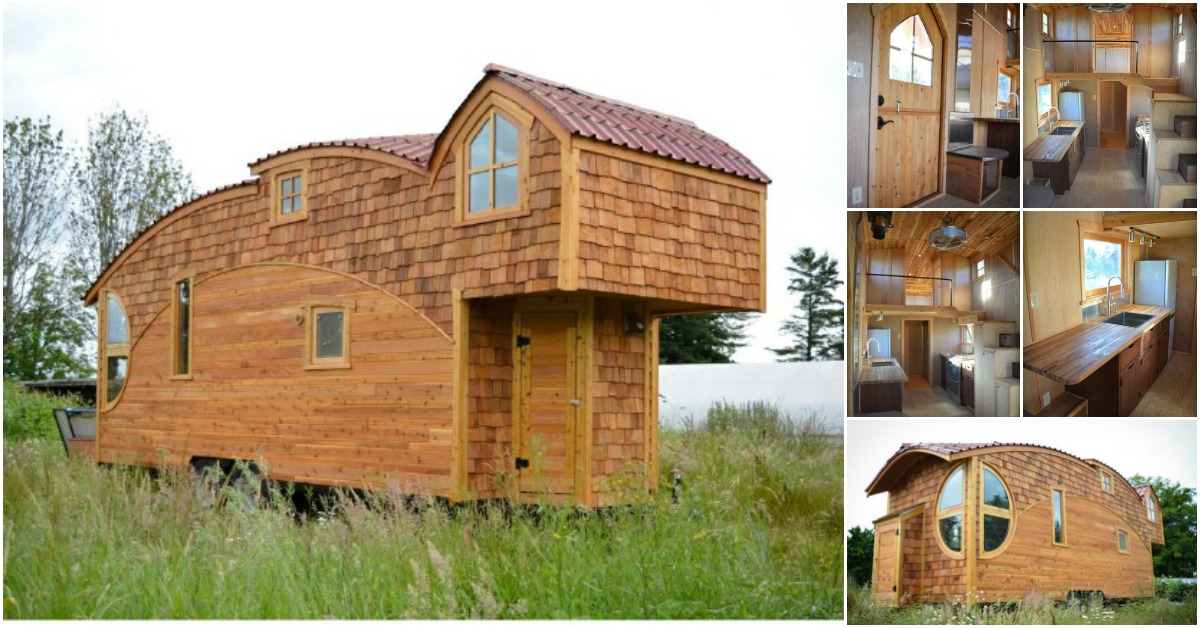 Off grid 333sf tiny house looks like it leapt off the - The moon dragon the eco tiny house ...