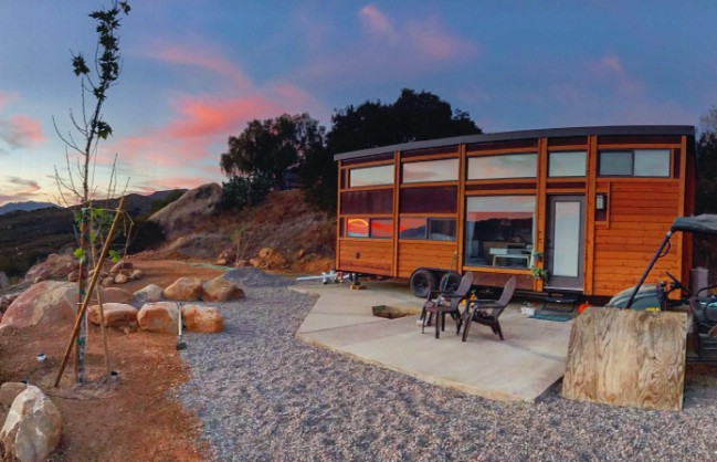 344 Square Foot Tiny House Sleeps EIGHT in Luxurious Comfort