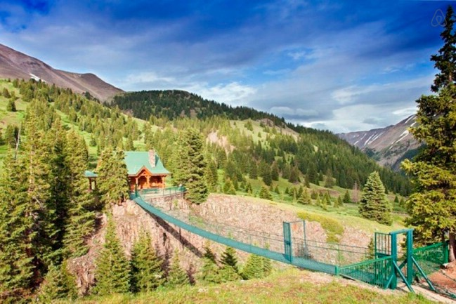 Cross a Suspension Bridge to Stay in this Scenic Tiny House Rental