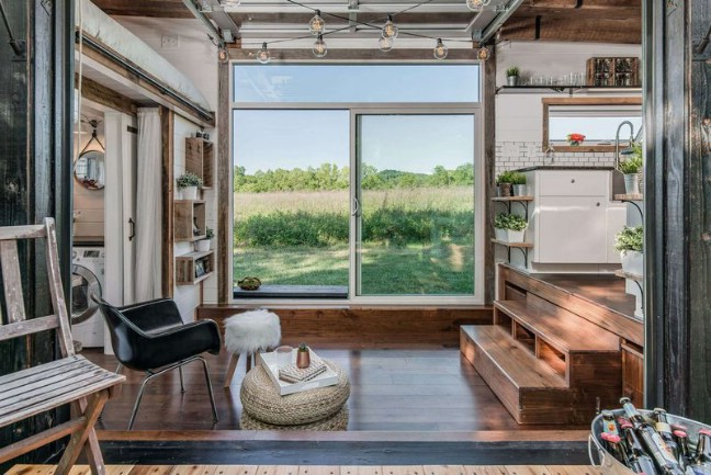 Fully Loaded 240 Square Foot Tiny House by New Frontier Tiny Homes