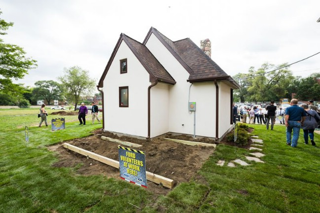 Detroit Builds First of Several Tiny Houses for Low-Income Families