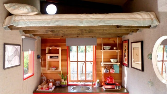 Lil Red Tiny House with Only 90 Square Feet