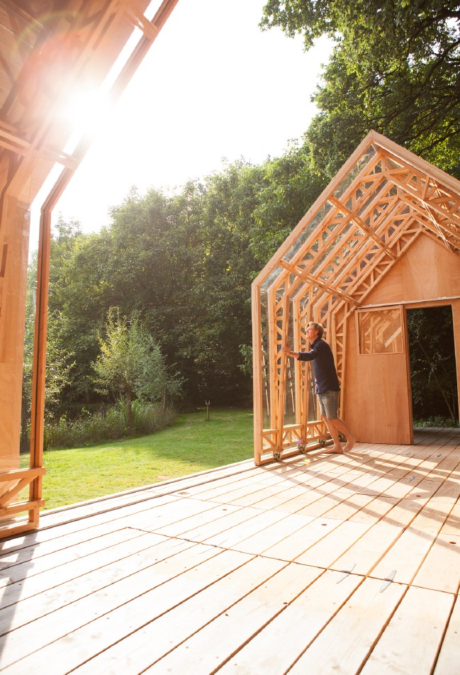 Creative Son Designs Transforming Tiny House for his Mother