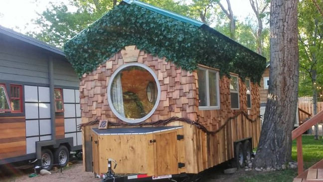 Relax and Try Tiny Living in The Hobbit House at WeeCasa Tiny House Resort