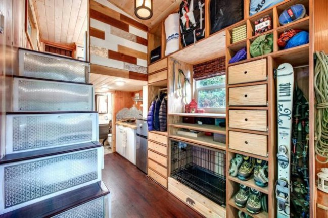 Tiny House in Oregon Crams Endless Storage Options into 204 Square Feet