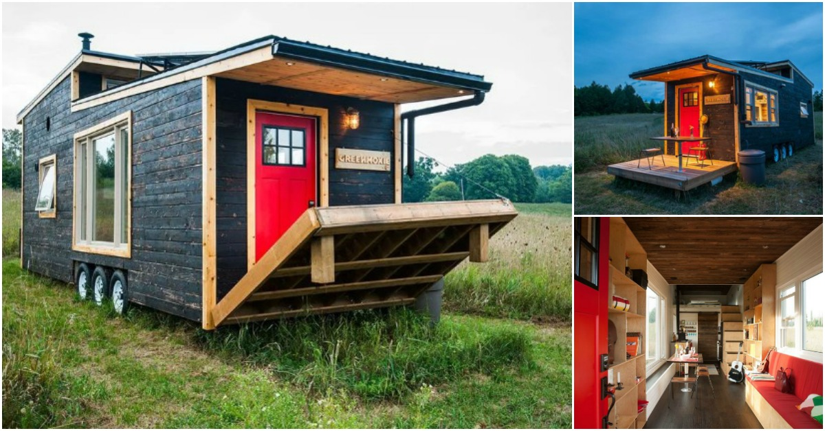 Greenmoxie unveils off grid and eco friendly 340 square for Eco friendly tiny house
