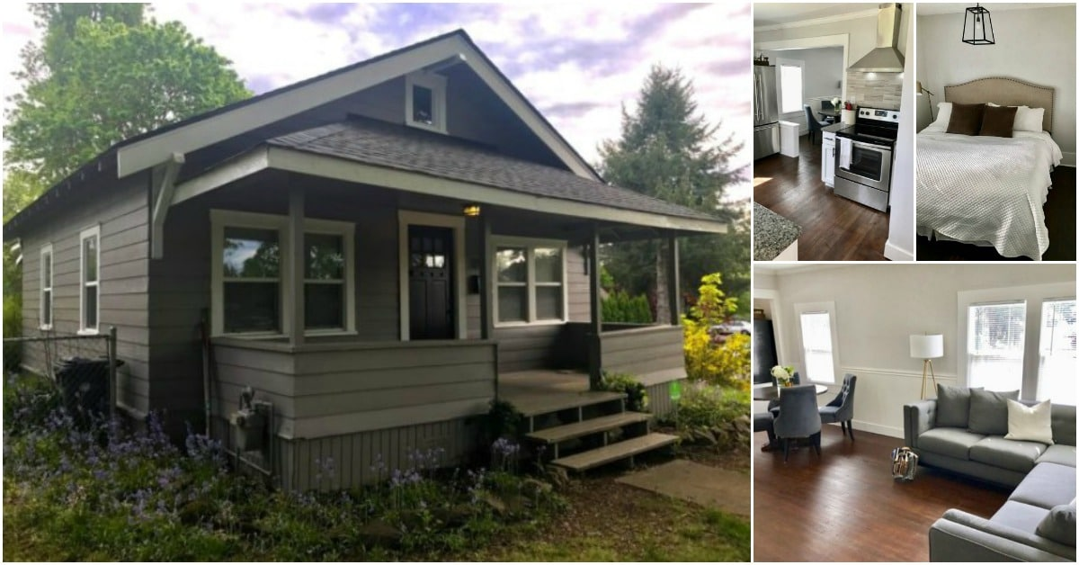 Unbelievable remodeled and tiny historic house for sale in for Small house builders washington state
