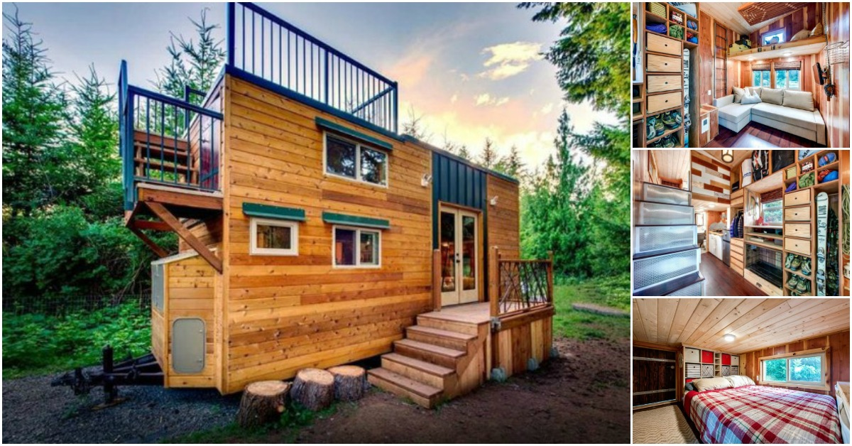 Tiny Home Designs: Tiny House In Oregon Crams Endless Storage Options Into