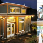 Vancouver Couple Build 500 Square Foot Tiny House with a Garage and Balcony