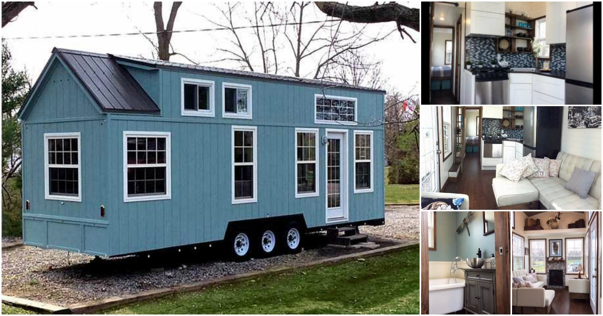 Luxurious and spacious tiny house on wheels for sale for Tiny houses on wheels for sale