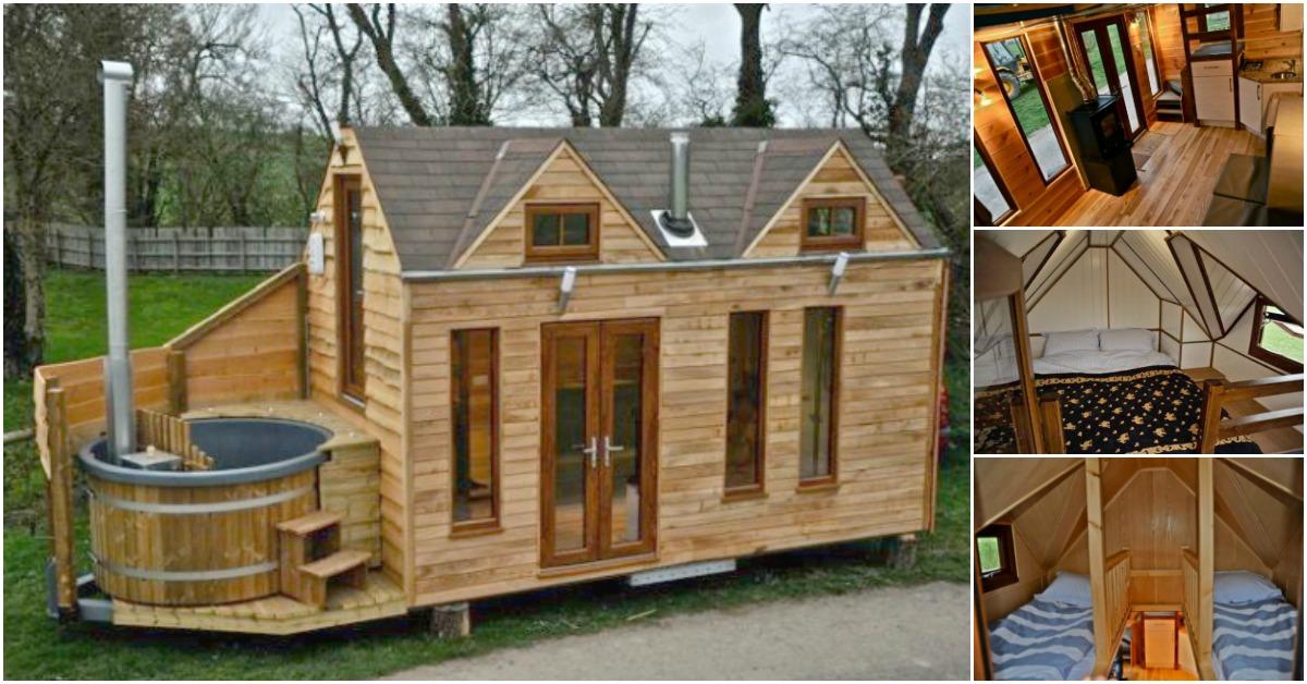 Tiny House With A Tiny Hot Tub By Tiny Wood Homes Of