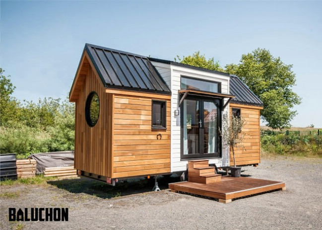 open and stunning tiny house made for horse farm in france by baluchon tiny houses. Black Bedroom Furniture Sets. Home Design Ideas