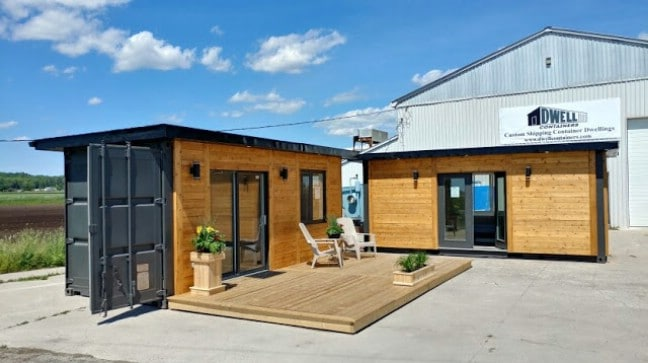 Houses Made Out Of Containers Captivating Modern 160 Square Foot Tiny House Made Out Of Shipping Containers . Inspiration