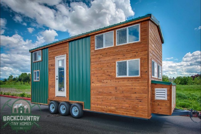 Juniper tiny house packs tons of storage in less than 300 for 300 square foot shed