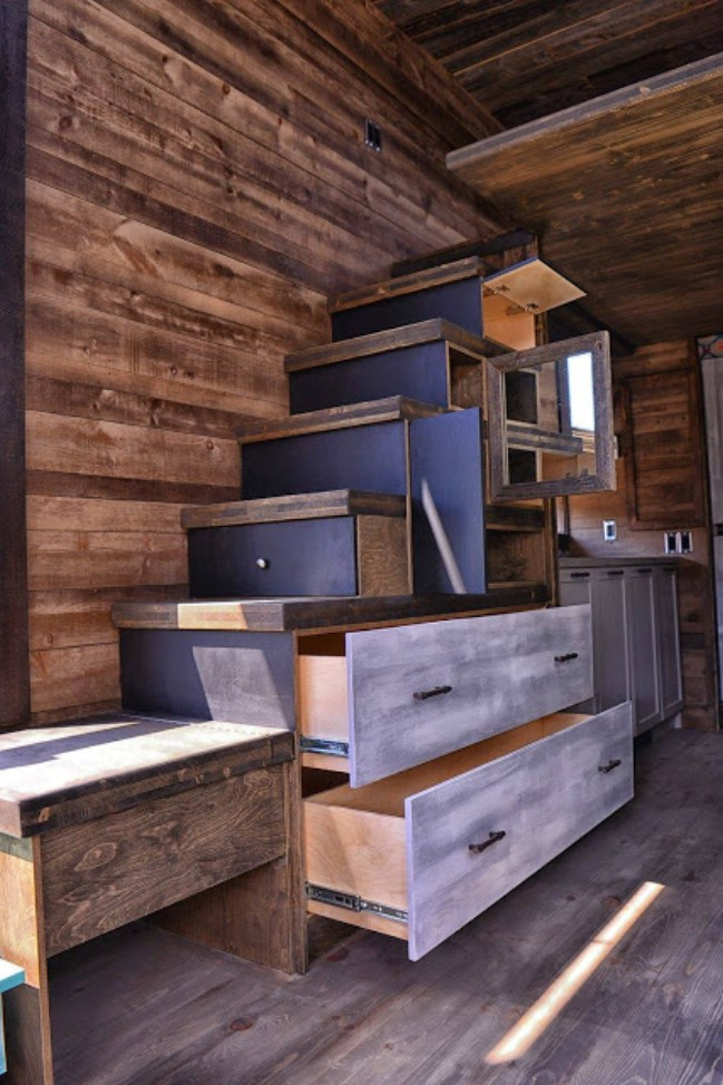 Funky Rustic Tiny House by Lumbec of Quebec