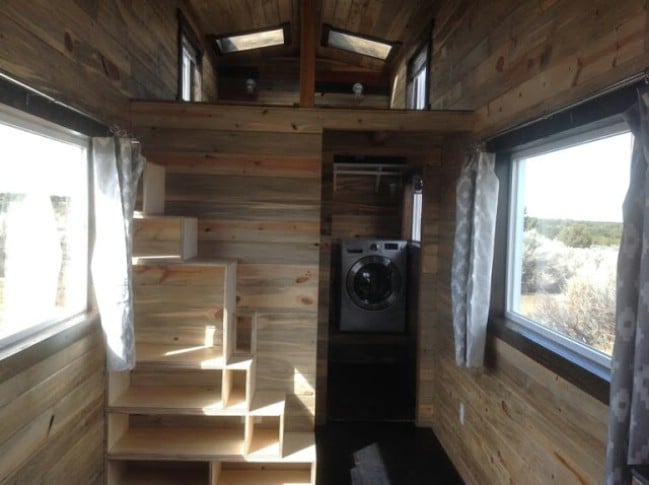 196 Square Foot Tiny Home Built with Beetle-Kill Pine for Sale