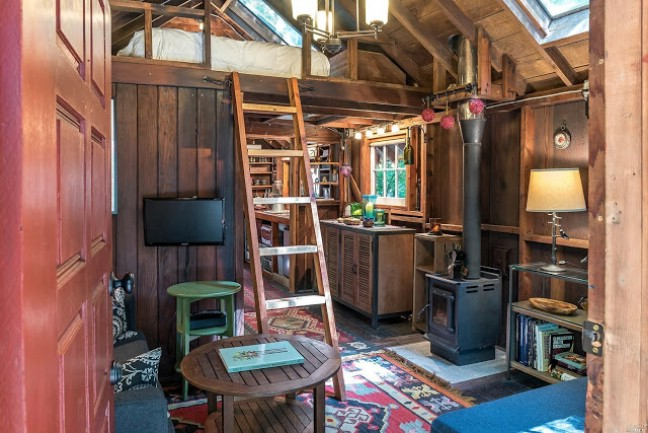 Peaceful 324 Square Foot Tiny House in Sonoma County for Sale