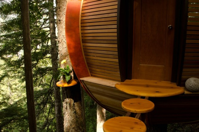 Man Builds Secret Tiny Treehouse on Crown Land in Whistler, Canada
