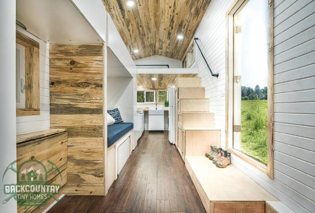 Juniper Tiny House Packs Tons Of Storage In Less Than 300 Square Feet Tiny Houses