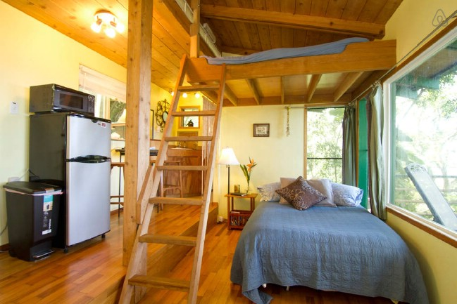 Stay at the Tiny and Eco-Friendly Sunset Beach Treehouse Bungalow in Haleiwa, Hawaii