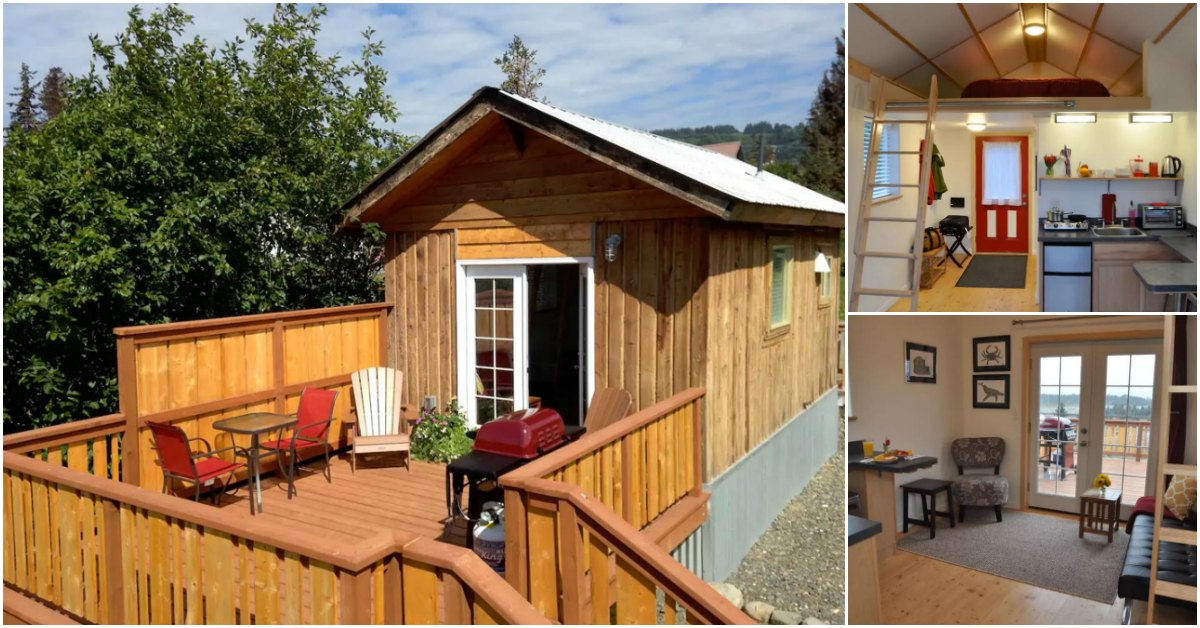 Tiny house with 300 square feet in homer alaska is open for Home builders alaska