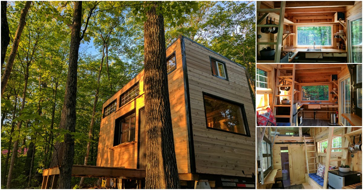 Rent the auburn tiny house from cabinscape in ontario for Tiny house builders ontario