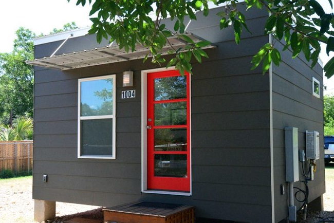 225 square foot contemporary tiny house for sale in austin for Modern houses for sale austin