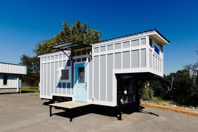 "248 Square Foot ""The View"" by Tiny House Chattanooga for Sale - on plywood house design, steel house design, paper house design, grid house design, wood house design,"