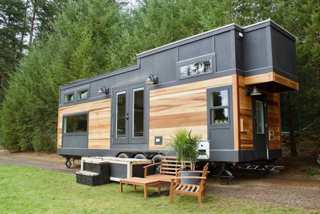 Exquisite nature inspired 240 square foot tiny house by for Small portable homes