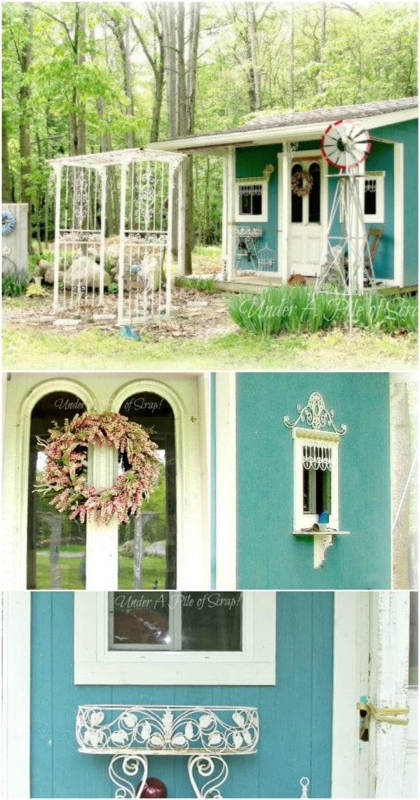 Use Upcycled Items to Bring New Beauty From Old Items - Top 80 Gorgeously Comfortable She Sheds and Backyard Tiny Houses